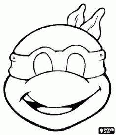 a1be3ea66b53dbd6614580d9d81d19b4 ninja turtle mask coloring page more cakepins com tortugas ninja on happy face mask template