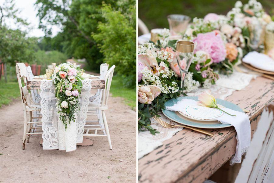 minnetonka mn wedding floral table runner studio