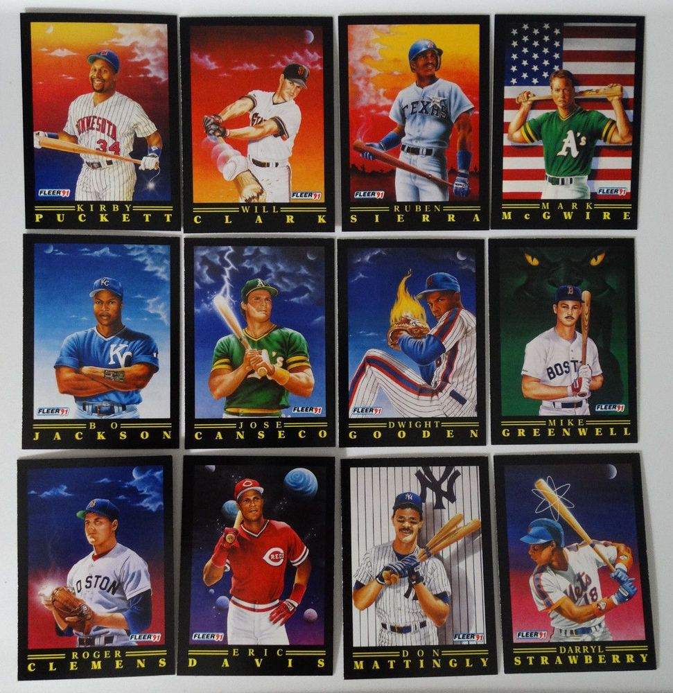 Details About 1991 Fleer Pro Visions Insert Sub Set Of 12 Baseball