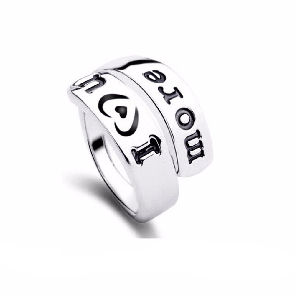 'I love you more' Promise Ring in Gold or Silver Plated