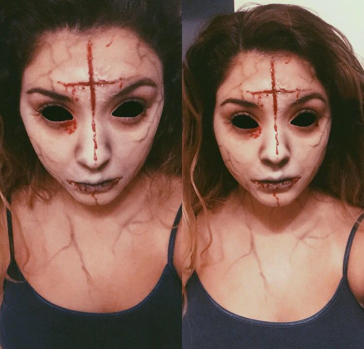 Possessed demon Halloween Pinterest Halloween makeup, Makeup - halloween horror costume ideas