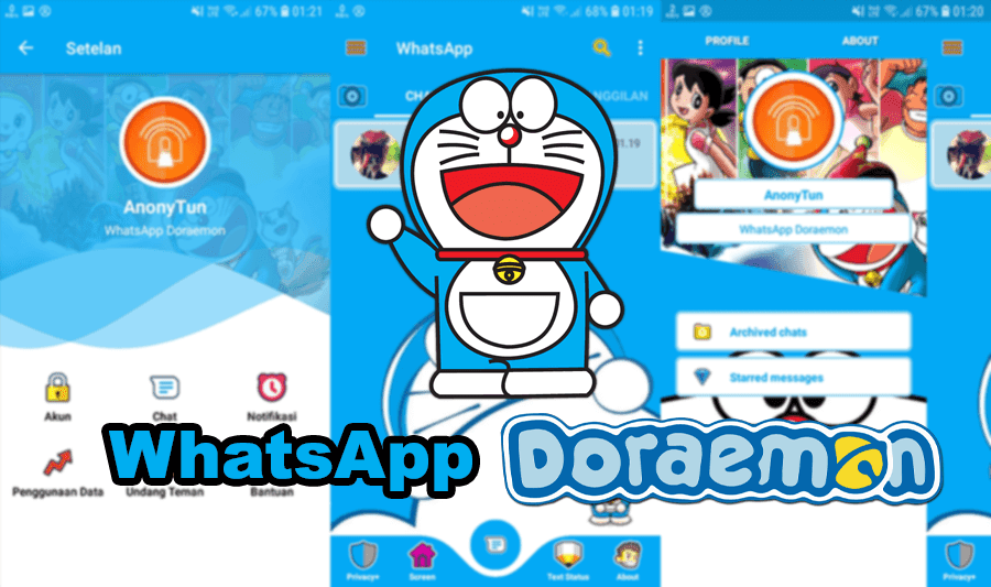Whatsapp Gambar Doraemon Lucu Buat Wallpaper Download Whatsapp Doraemon Apk Versi Terbaru 2019 Anonytun Com 500 Gambar Doraemon Di 2020 Doraemon Gambar Hello Kitty