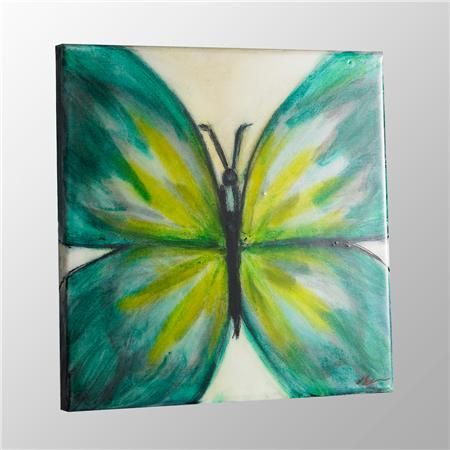24x24 Colorful Butterfly Wall Painting On Canvas Easy PaintingEasy Watercolor