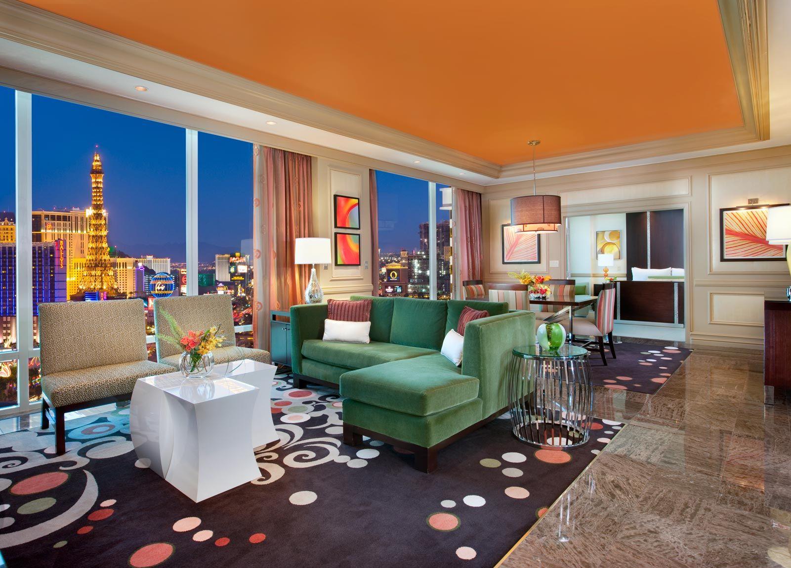 Las Vegas 2 Bedroom Suite Deals 2 Bedroom Suite In Las Vegas Strip View Bedroom Premier Suite
