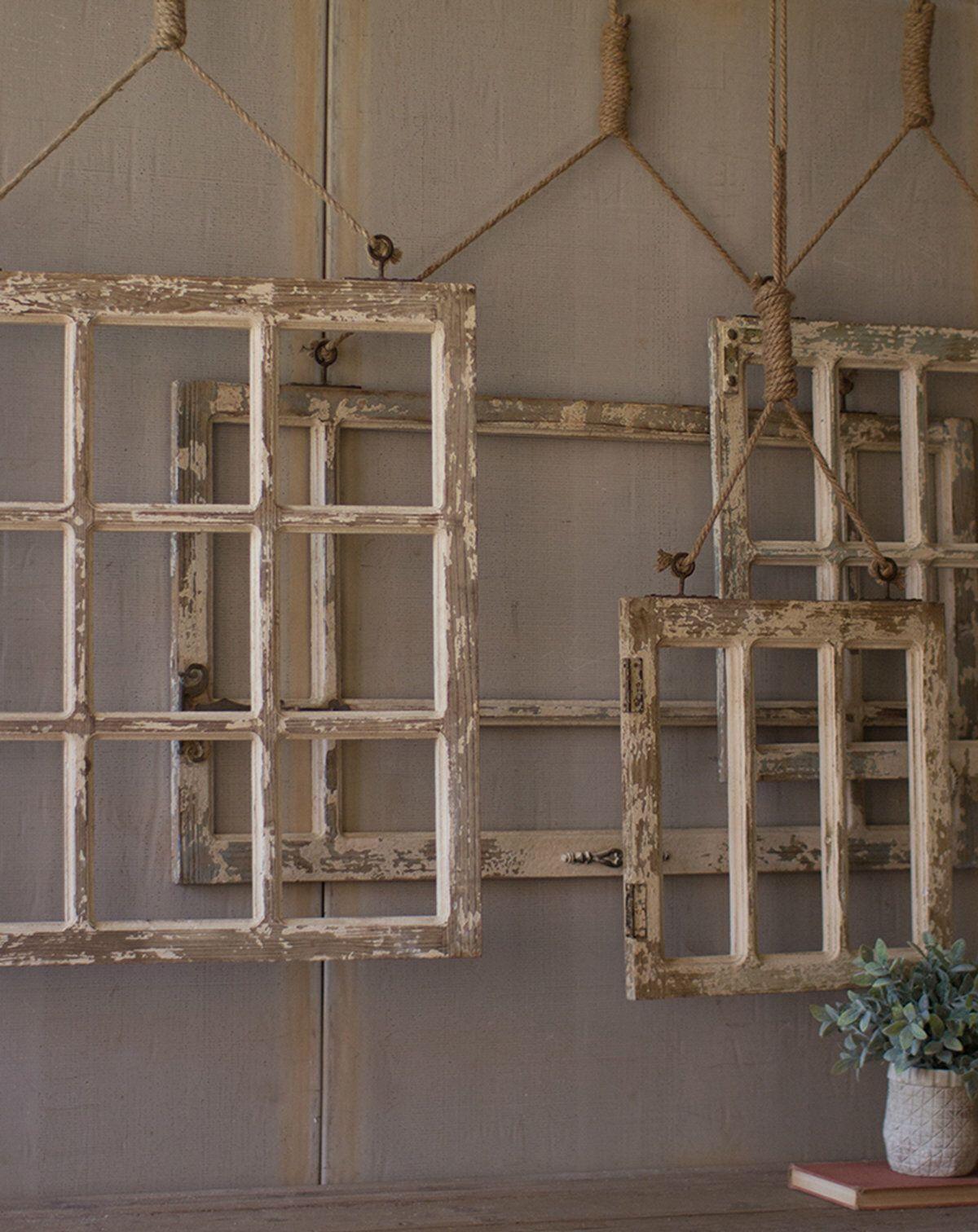 4 Piece Window Frame Wall Decor Set Wood Window Frame Frame Wall Decor Frames On Wall