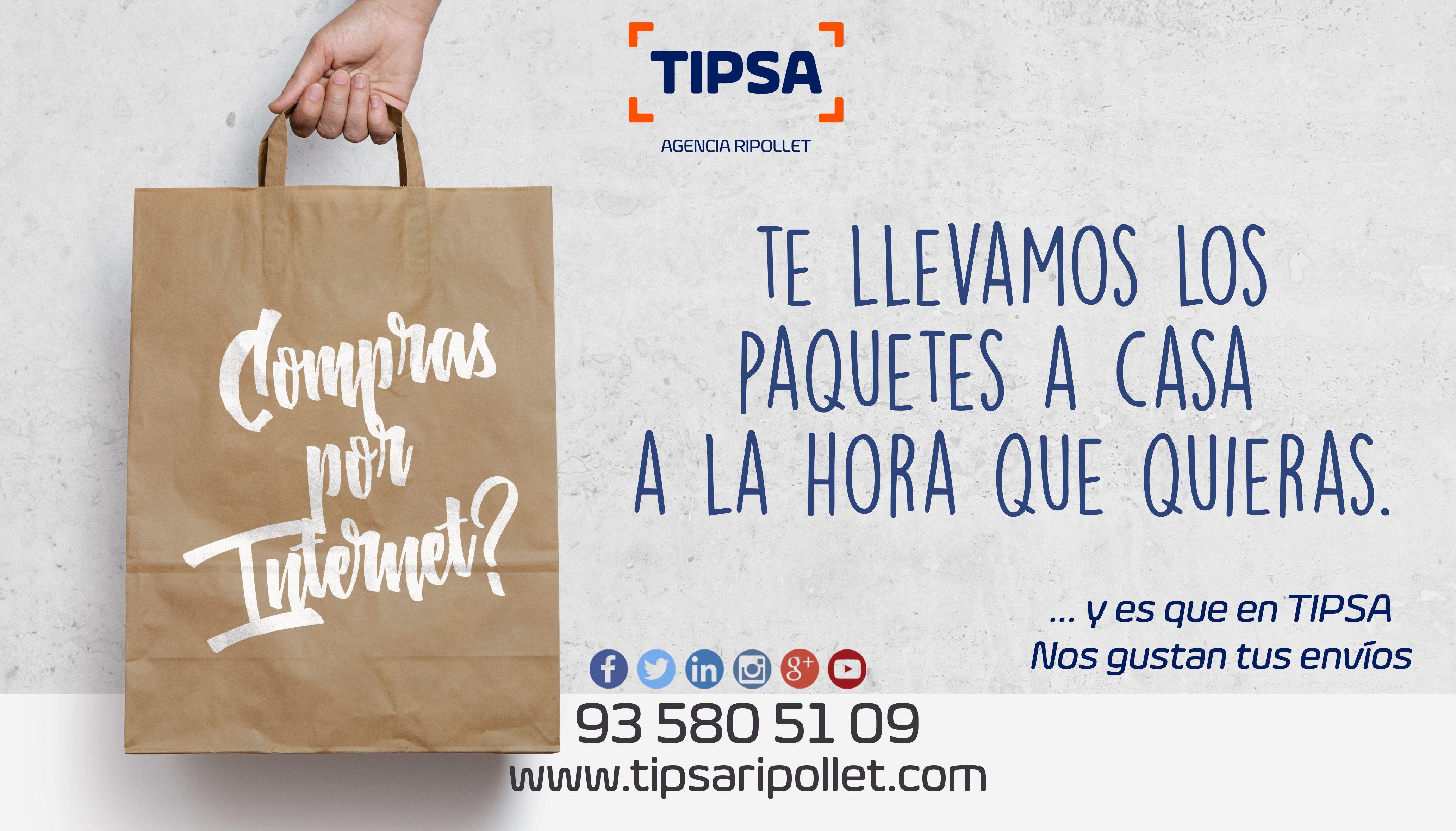 ¿Acabas de comprar por internet y no estás en casa para recibir tu paquete?, en Tipsa Ripollet ofrecemos la posibilidad de adaptar tu horario de entrega según tu disponibilidad y ofrecemos una opción de seguimiento en tiempo real de tu envio. www.tipsaripollet.com