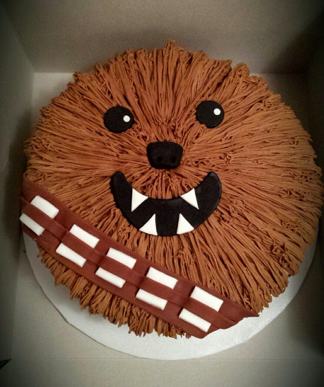 Chewbacca Birthday Cake I Made This Star Wars