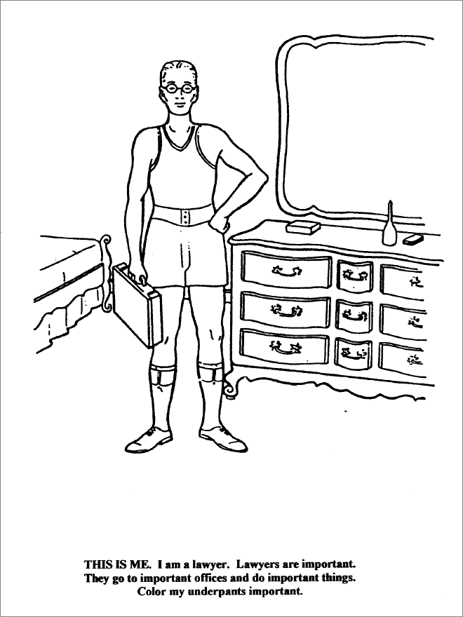 lawyer coloring pages - photo#13