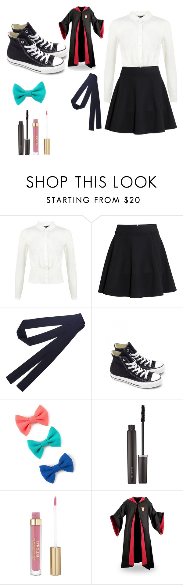 """Ginny-Sorting- CH5"" by siriuslyasamarauder ❤ liked on Polyvore featuring Miss Selfridge, H&M, Converse and Laura Mercier"