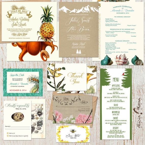 Wedding Invitation Printed Sample Pack by pixelpaper on Etsy