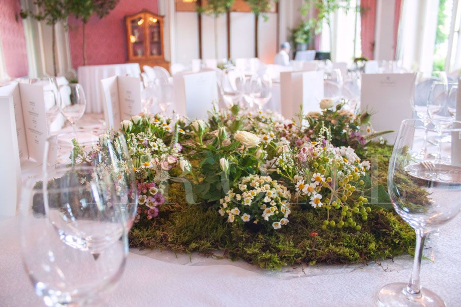 Fleurs Centre De Table Jardin Mousse Mariage Fleurs Fleuriste