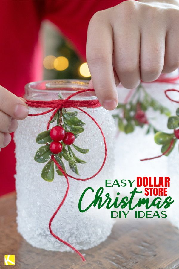 15 Dollar Store Christmas Diy Projects Anyone Can Do Christmas Projects Diy Dollar Store Christmas Diy Dollar Store Christmas