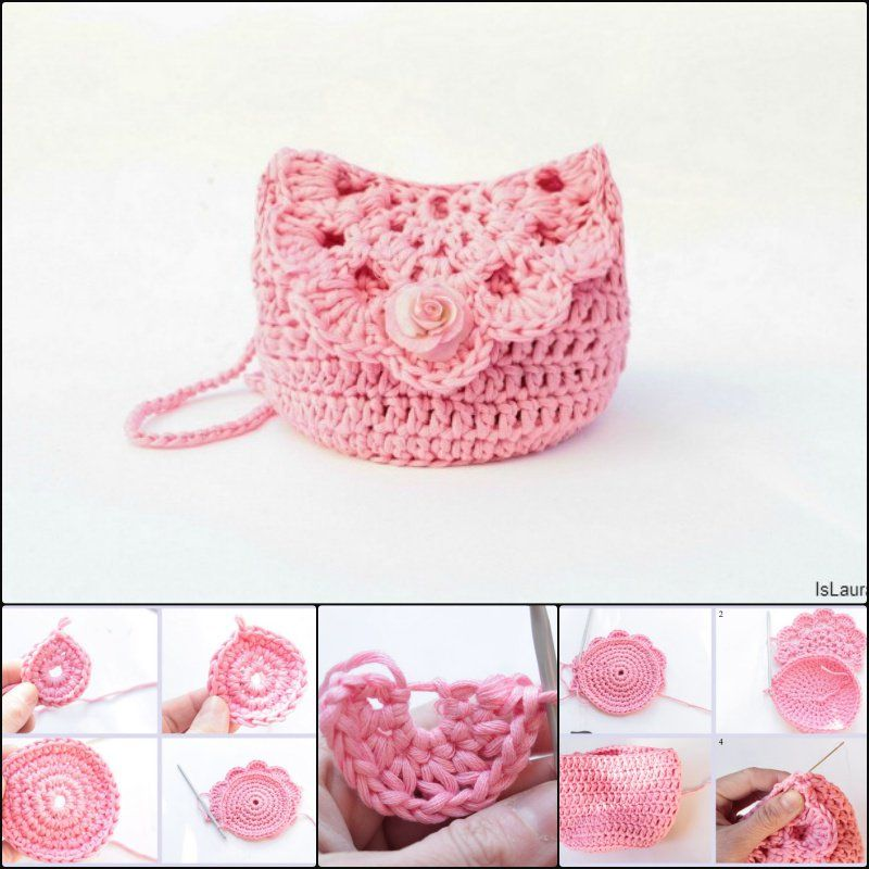 Cute Crochet Purse with Free Patterns and Tutorials | Frei, Muster ...