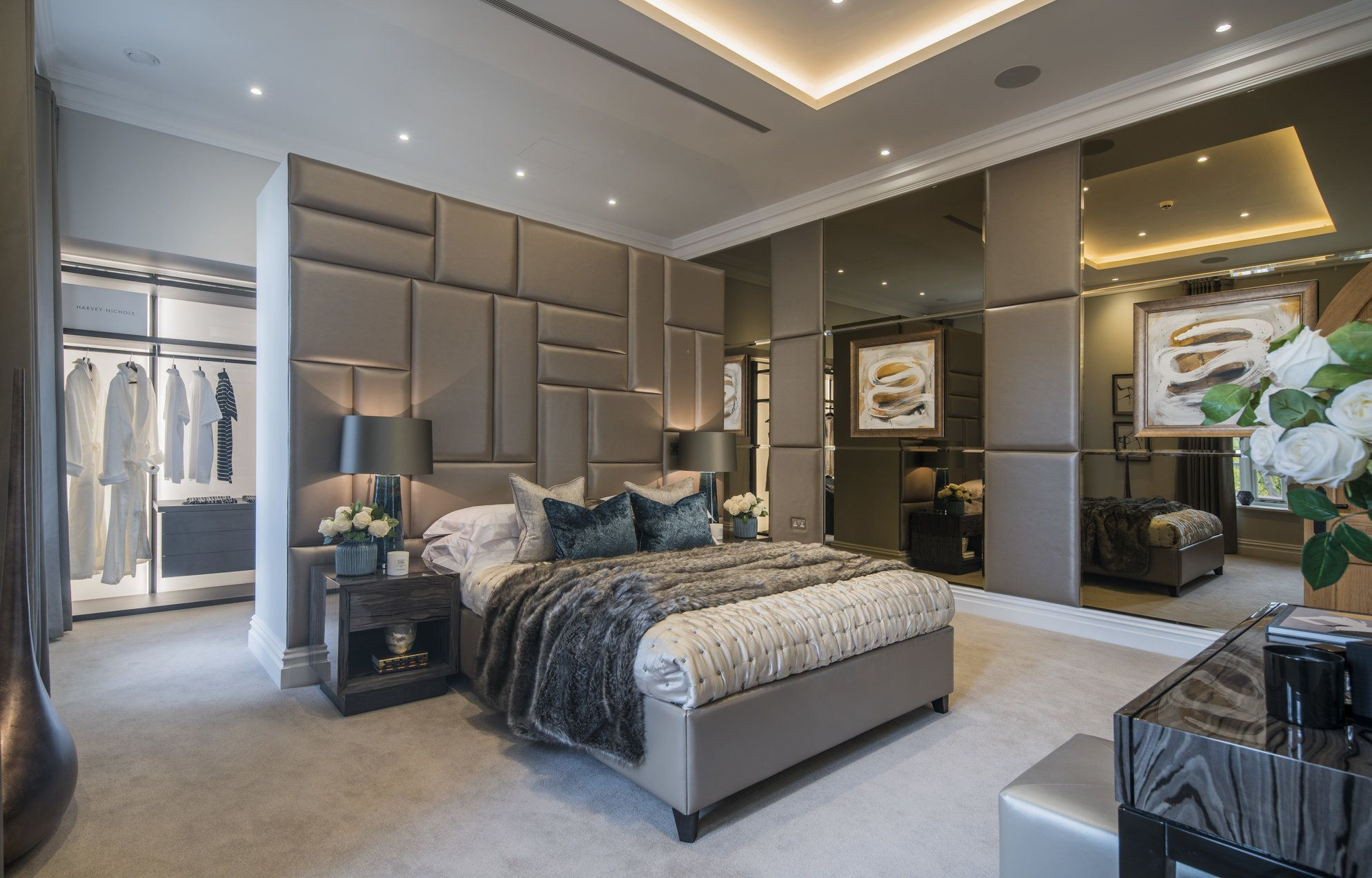 The luxurious bedroom in our London Chapel conversion ...