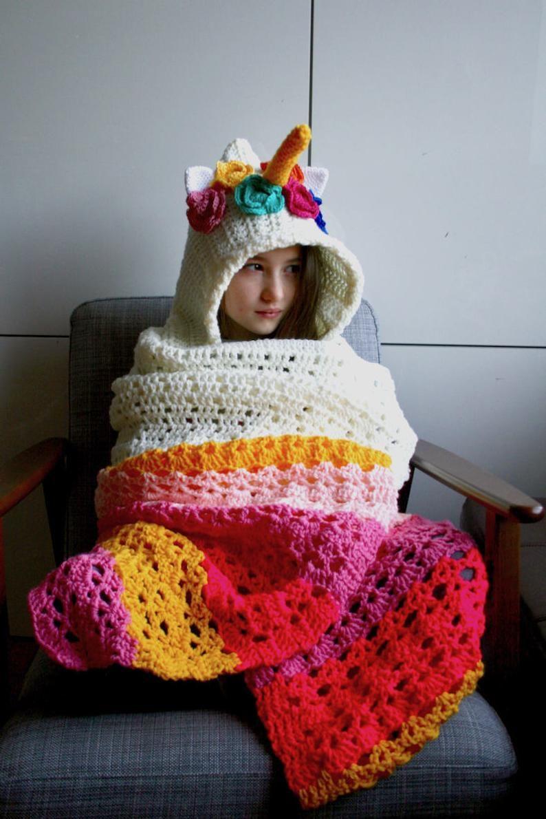 unicorn blanket crochet pattern - Buscar con Google ...