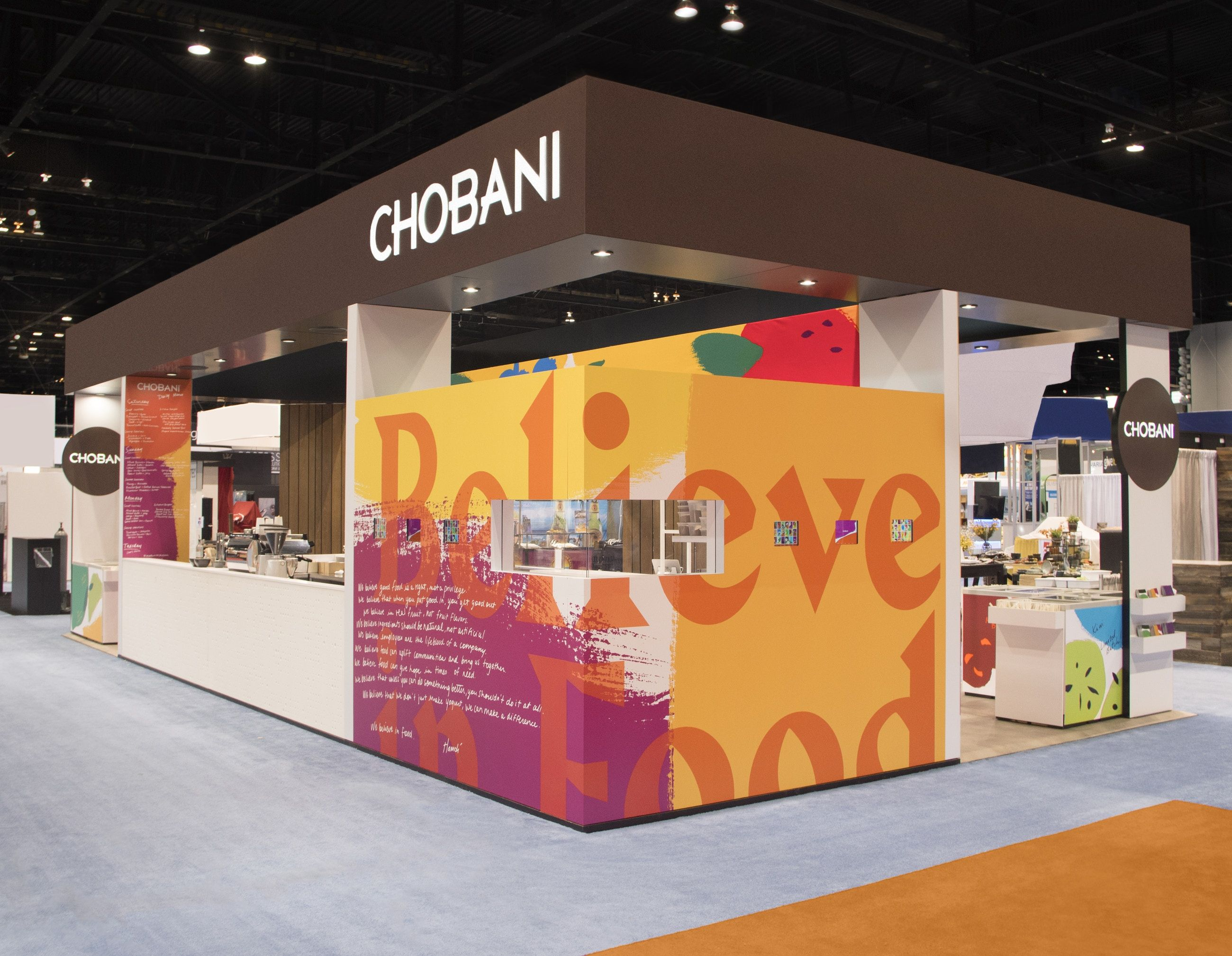 Chobani Collins Chobani Trade Show Design Booth Design
