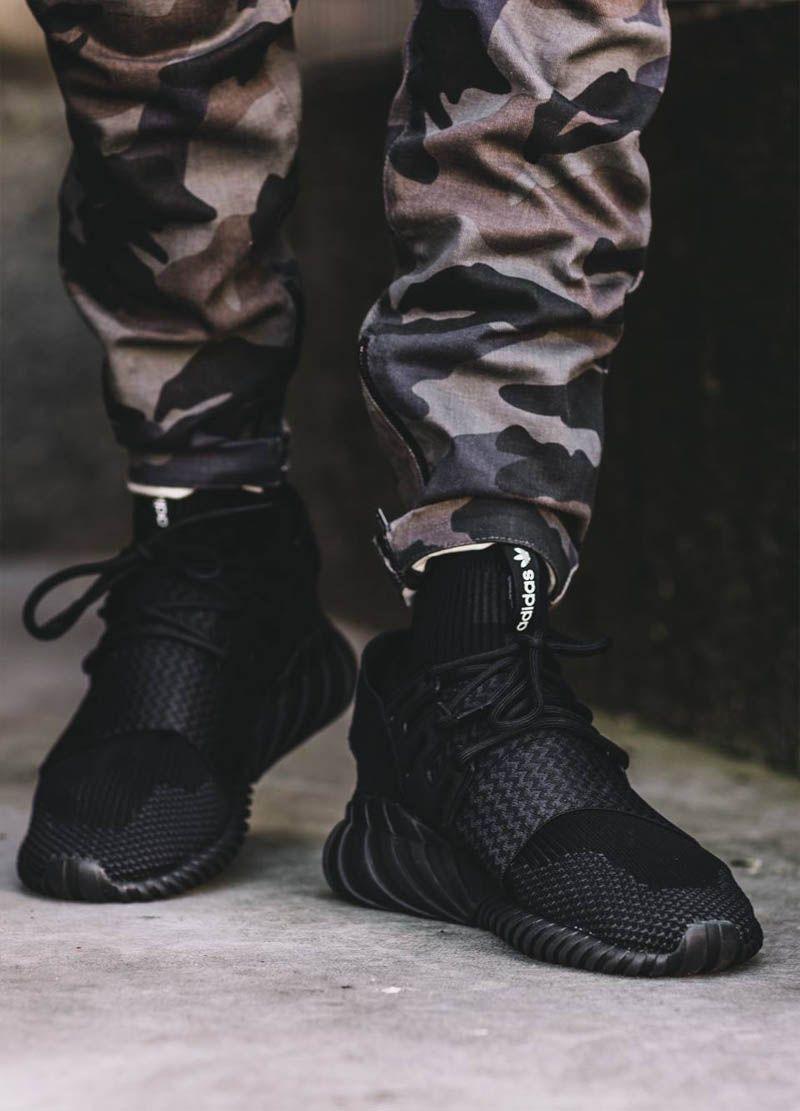 Black Tubular Doom × Camo Pants. Men's SneakersAdidas ShoesAddidas ...