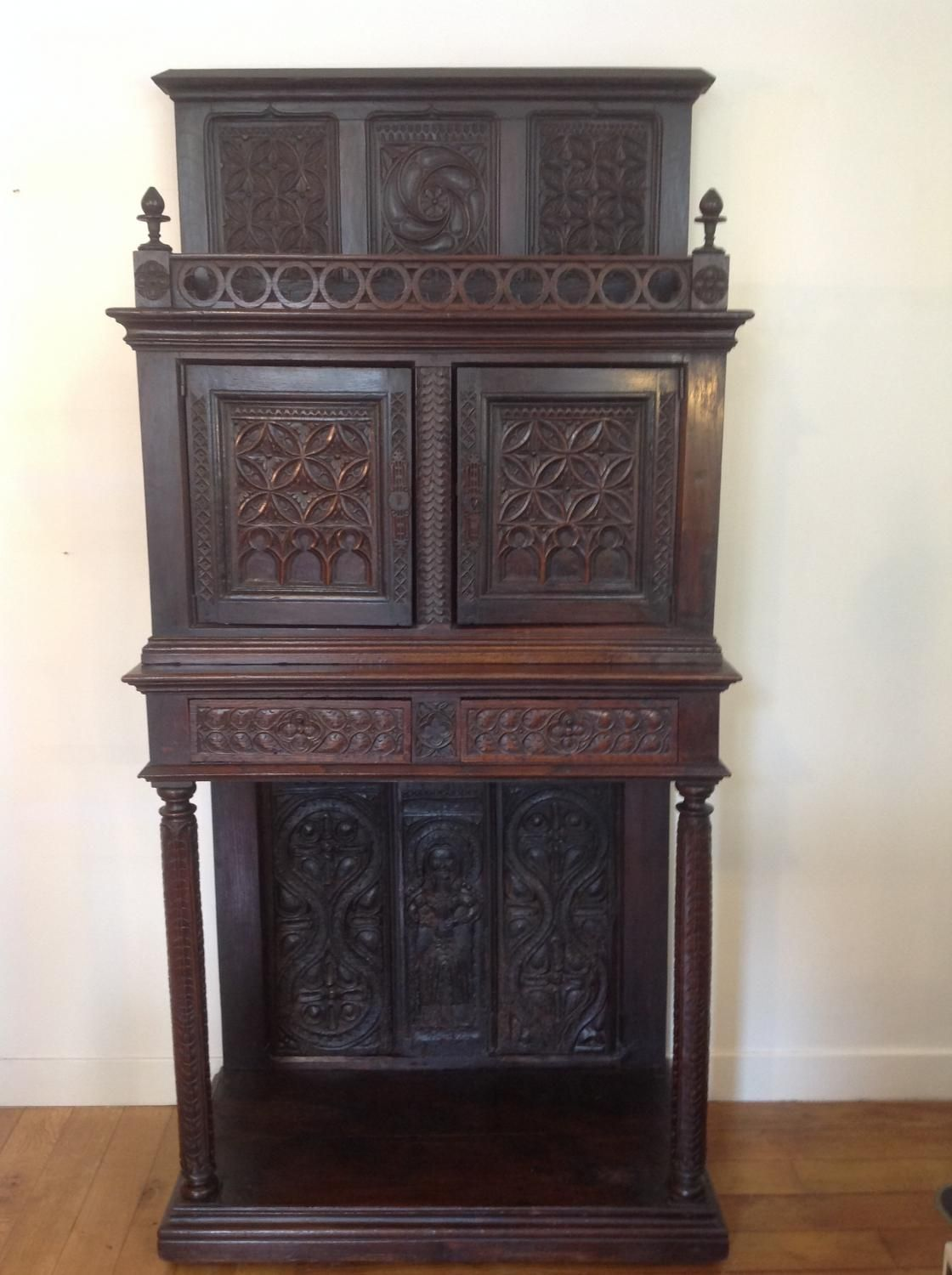 Antique For Sale Gothic Medieval Style Furniture With Back Middle