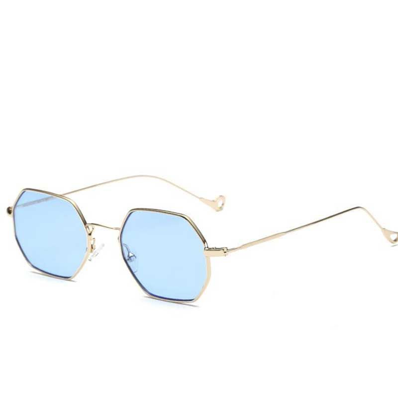 e5d87c8780 2017 brand design vintage sun glasses for men retro blue yellow red tinted  sunglasses women small frame polygon Sunglasses UV400