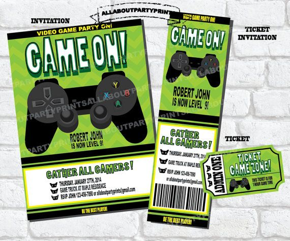 PDF FormatInstant DownloadVideo Game Party Printableinvitation - Video game birthday invitation template