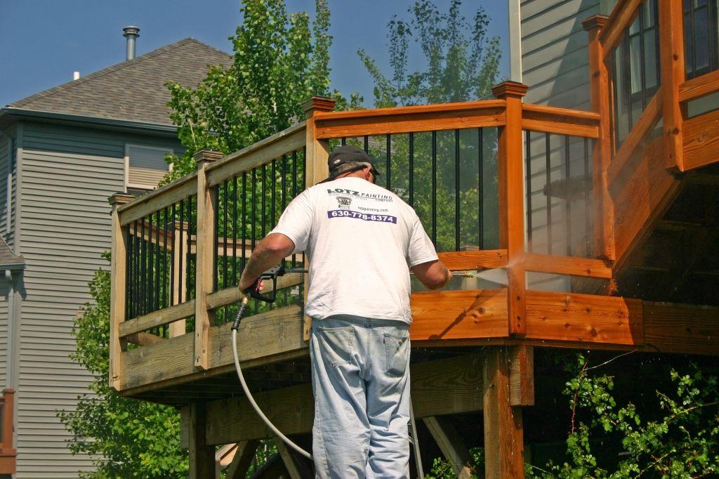 Decks Before & After Deck maintenance, Naperville, Deck