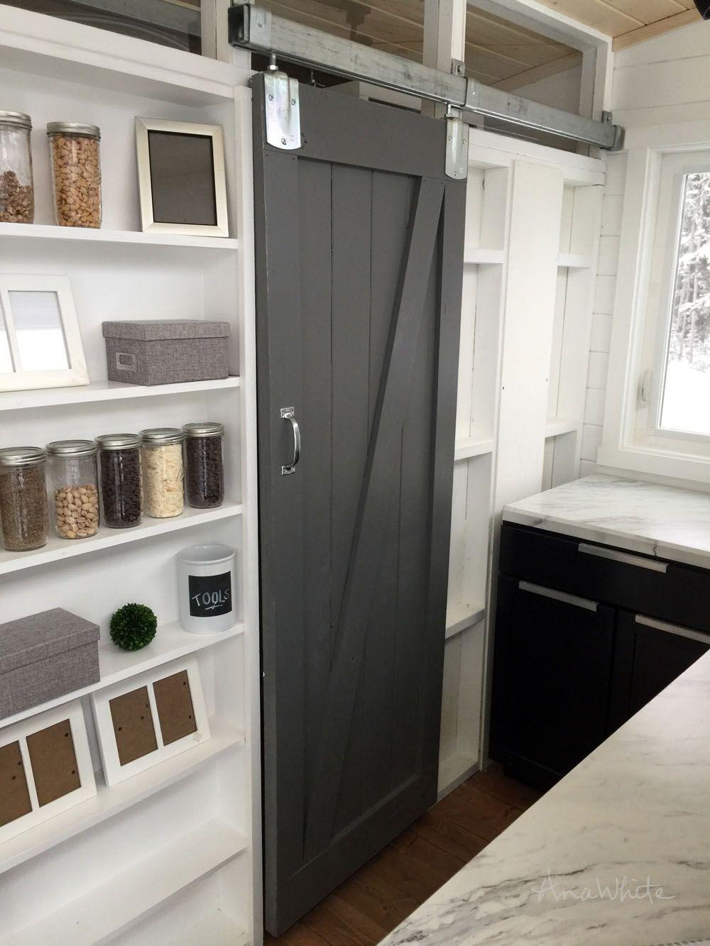 DIY Barn Door for Tiny House   Diy house projects, Diy ...