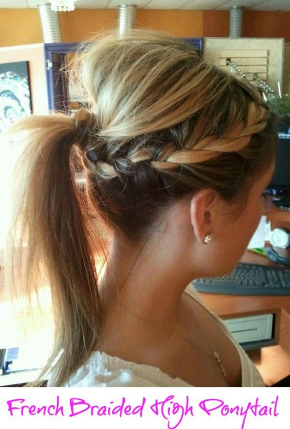 Creative DIY Hairstyle: French Braided High Ponytail