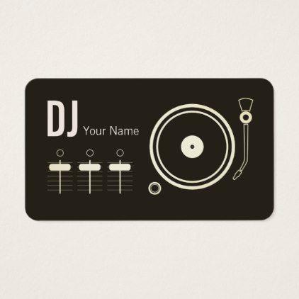 Modern Professional Dj Record Player Cover Business Card Zazzle Com Dj Record Dj Business Cards Professional Dj