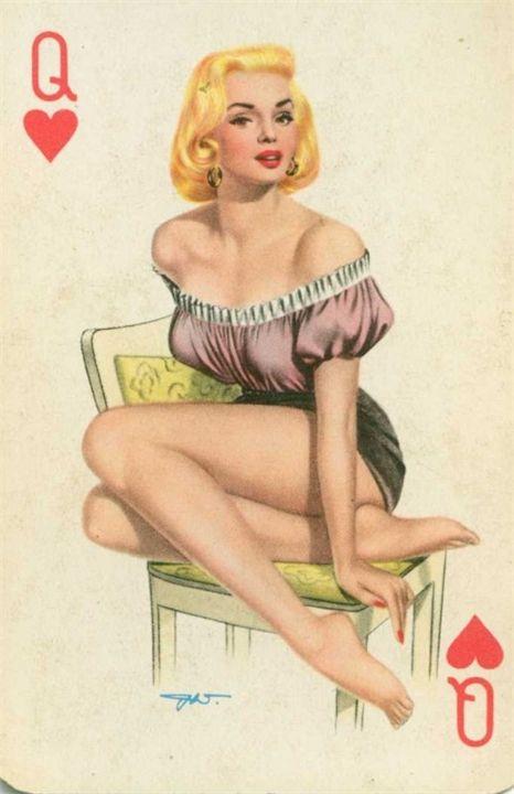 игральные карты с голыми девушками