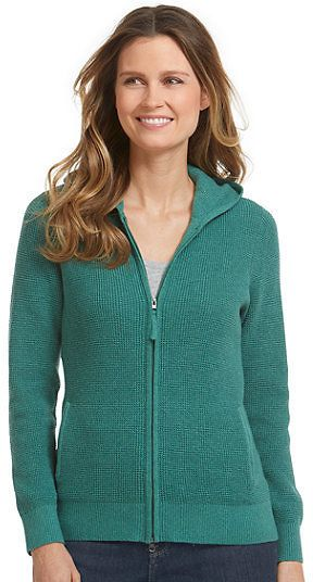 Women's Cotton/Cashmere Sweater Waffle Hoodie (5 Colors) Ships ...