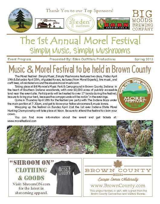 Events Programs 02 - The Morel Festival 12 Pages, Color \/ Black - sample event program