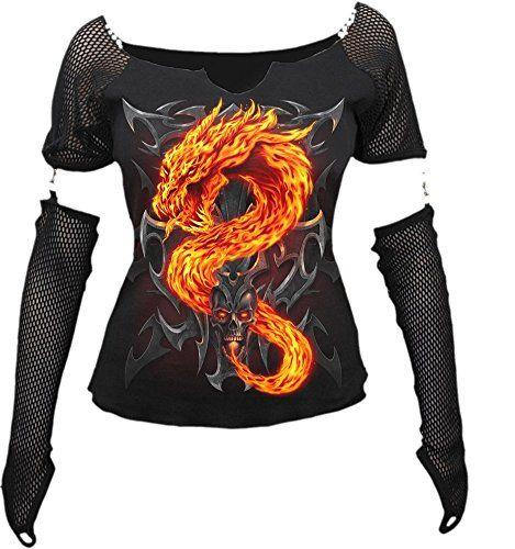 Dragon Gothic Fire T-Shirt