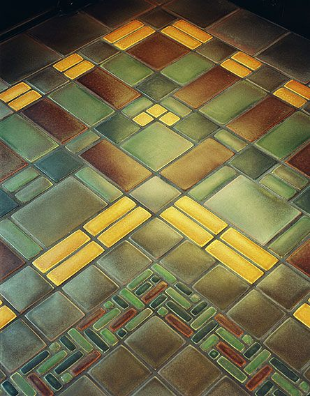 craftsman tile floor art arts crafts