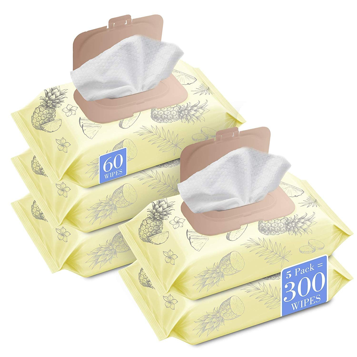 Herb & Luxe Face Wipes, Makeup Remover Facial Cleansing