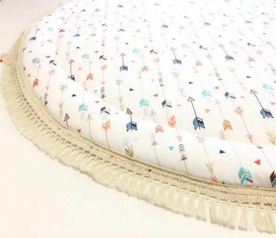 Organic Round Play Mat Arrows And Triangle Deer And Dot Baby Roundies Round Rug Tummy Time Nursery Baby Blanket Blanky Flatlay Play Rug Tapis De Jeu Tapis Et Tapis Rond