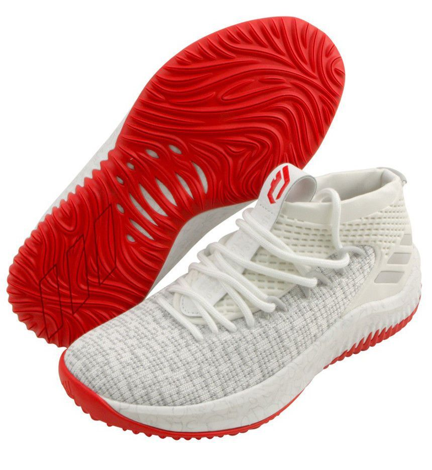 5a2a62894dd1 adidas DAME 4 Men s Basketball Shoes Shoe Sports NBA Boost White NWT CQ0471   adidas