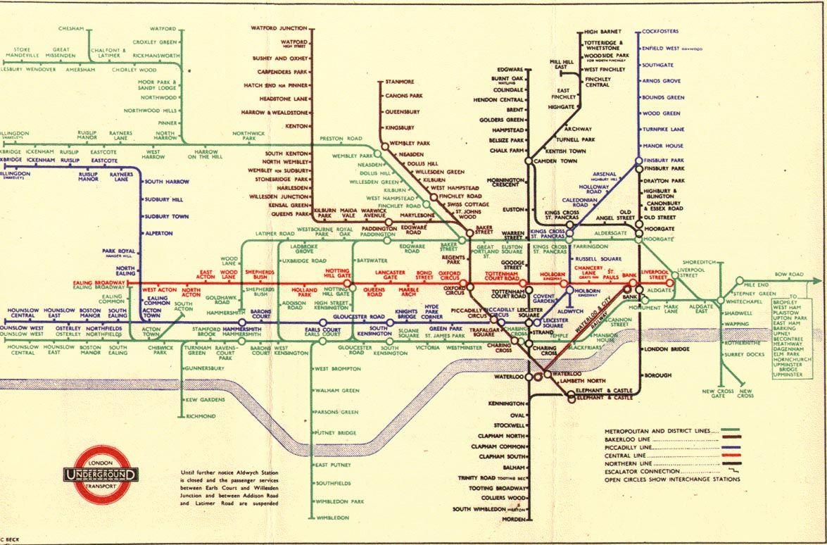 1945 tube map. Awesome. | Europe | London tube map, London, London ...