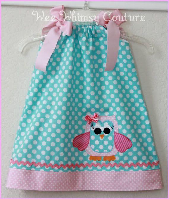Cute lil Owl Pillow Case Dress