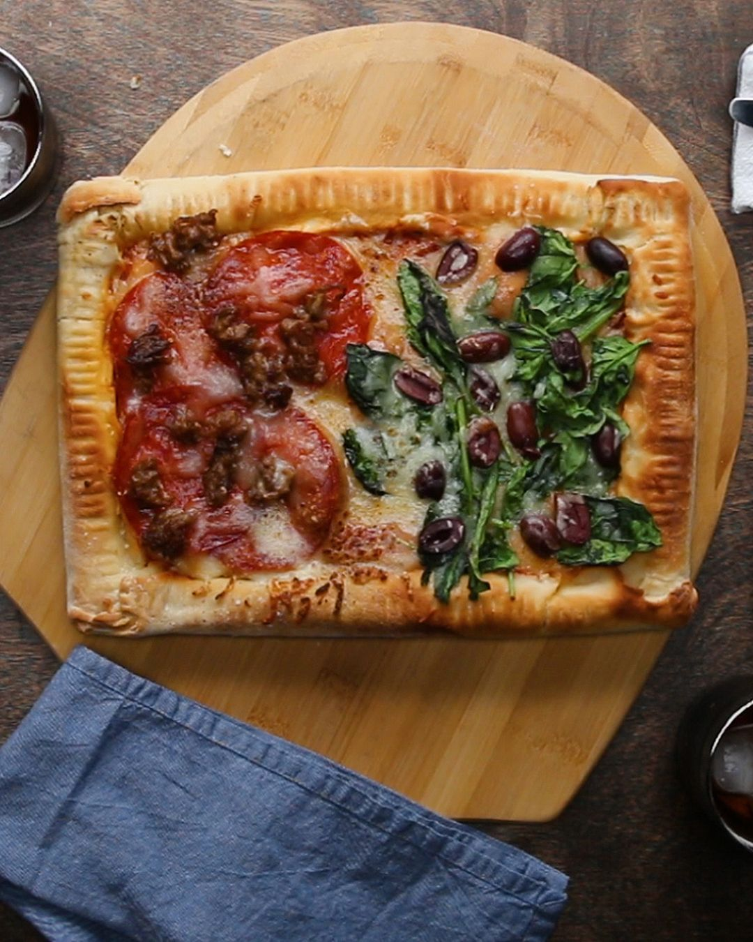 Double Stuffed Sheet Pan Pizza Recipe Food Pizza Pizza