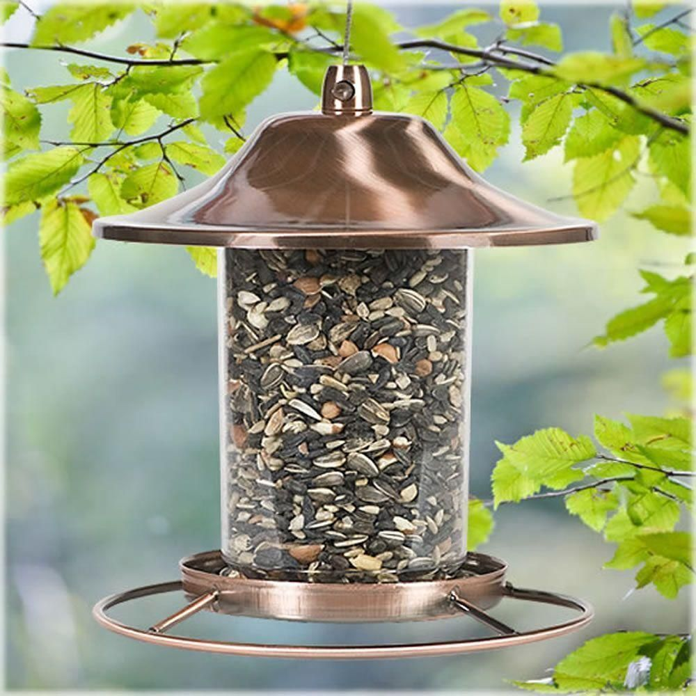 Bird feeding station squirrel proof feeder decorative