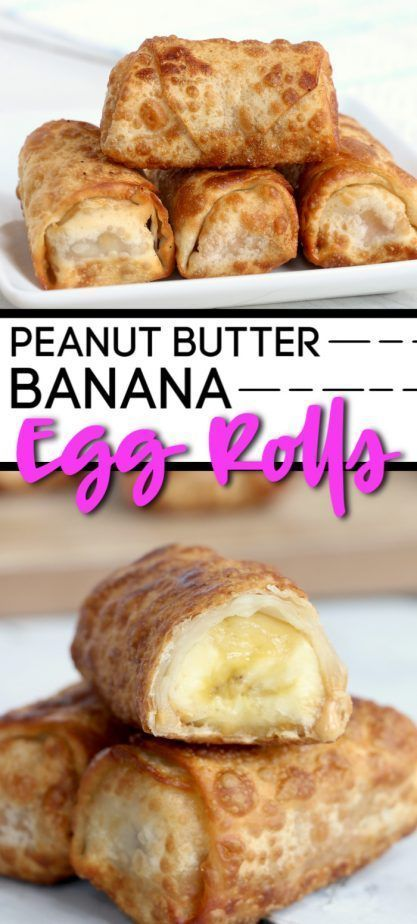 Peanut Butter Banana Egg Rolls images