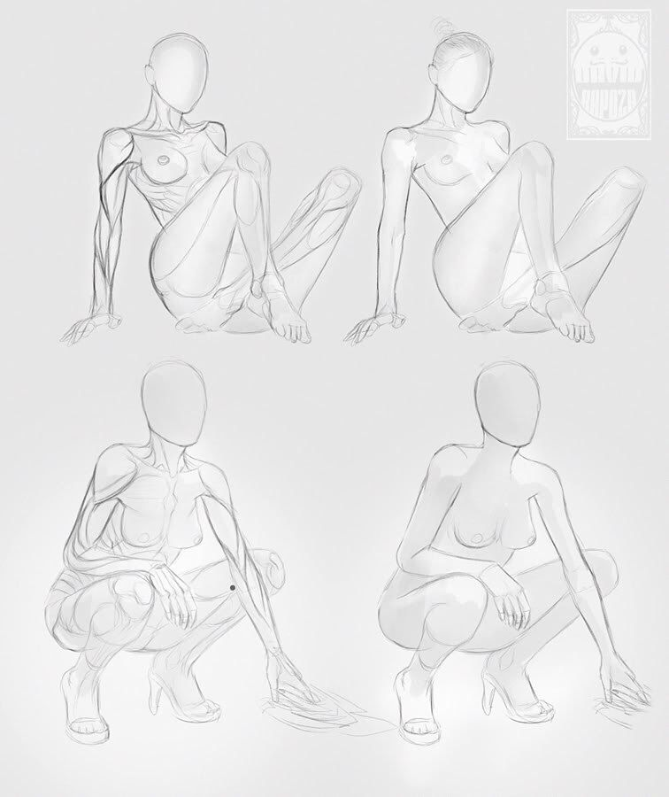 Female Anatomy Drawing Pose Reference Drawing Stock Drawings