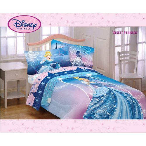 Disney Cinderella Secret Princess Twin Full Comforter Cinderella