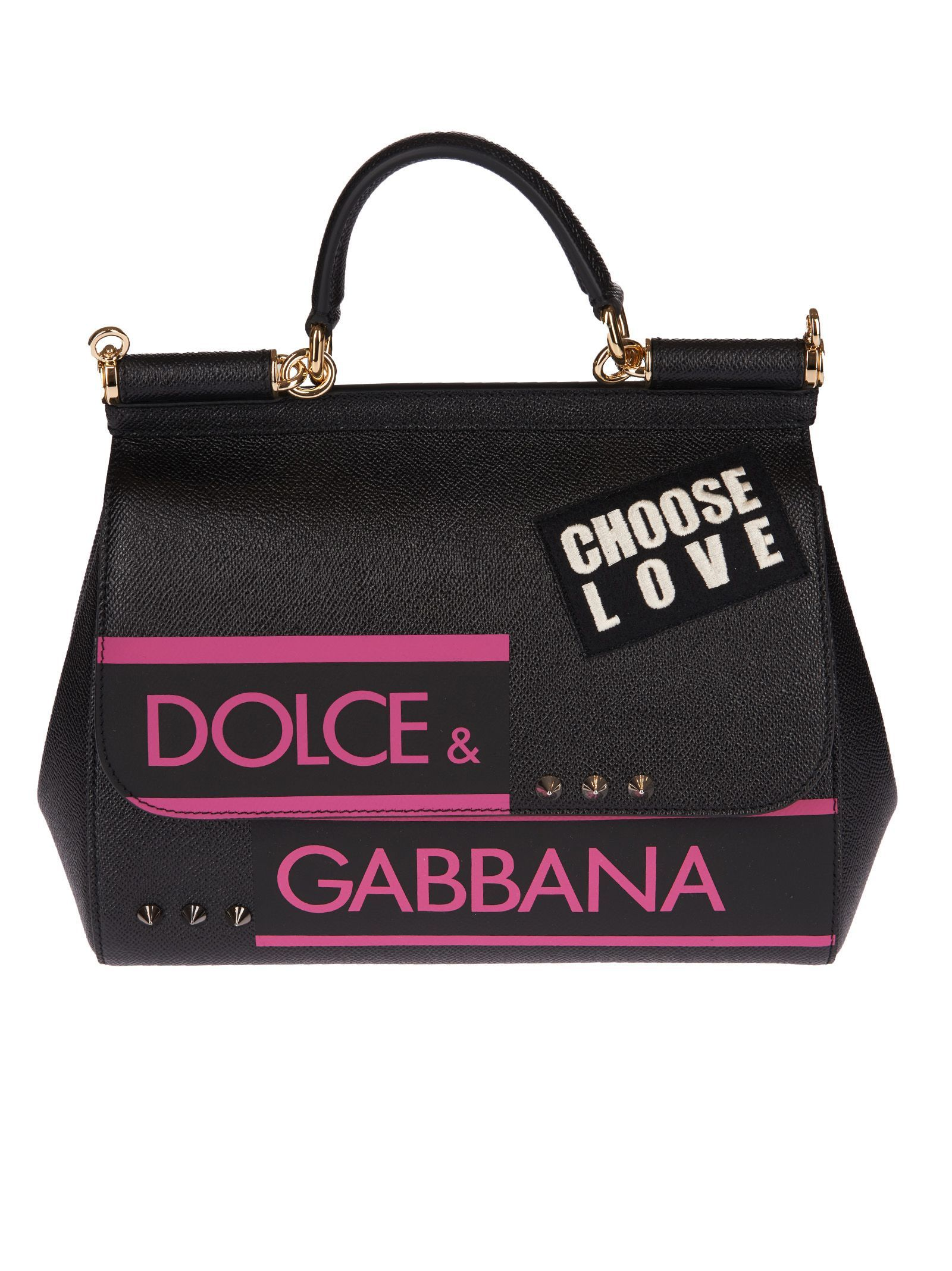 827a8db64102 DOLCE   GABBANA SICILY CHOOSE LOVE TOTE.  dolcegabbana  bags  shoulder bags   hand bags  polyester  leather  tote