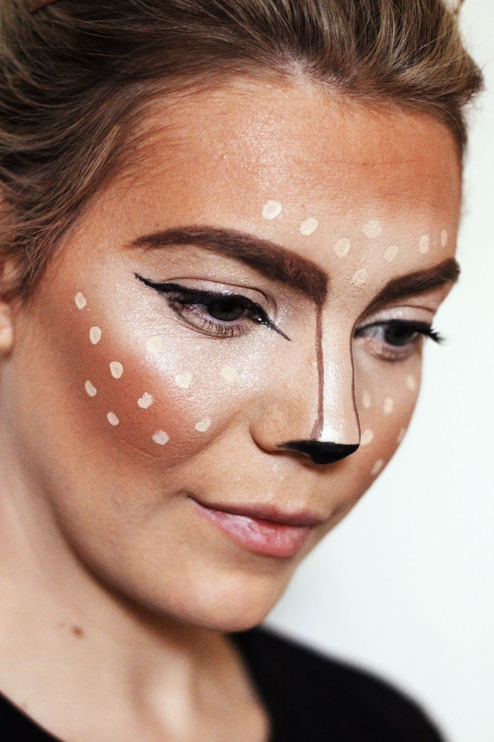 Deer Makeup Tutorial Last minute Halloween costume. Cute
