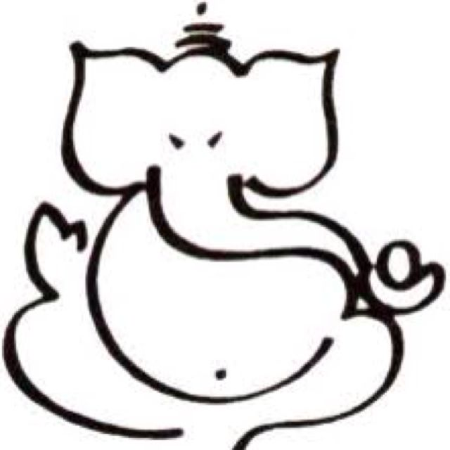 LOVE this simplified caligraphy style Ganesha. never get tired of ...