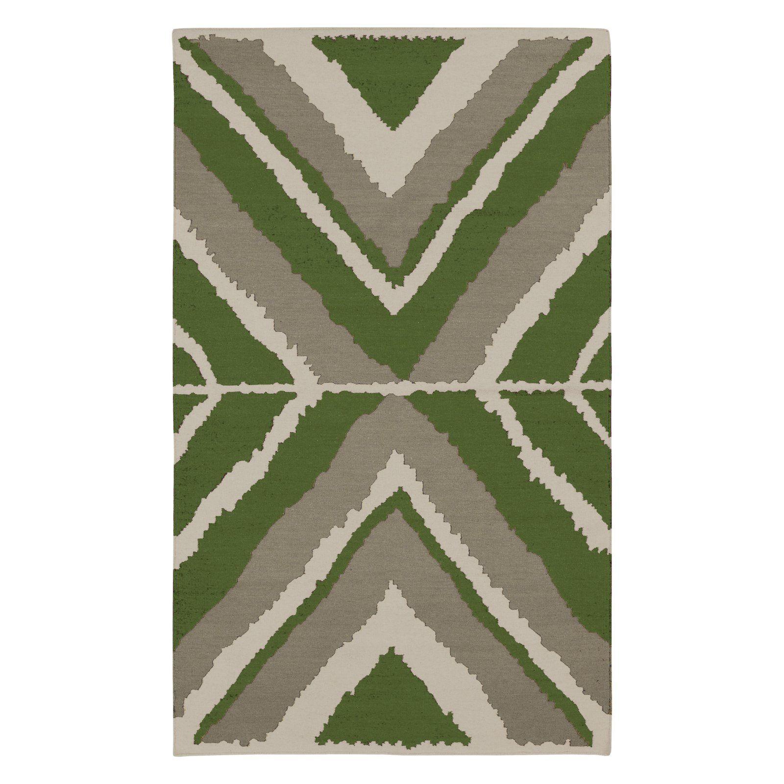 Surya Amd 10 Beth Lacefield Area Rug Apple Green Ash Gray Wool