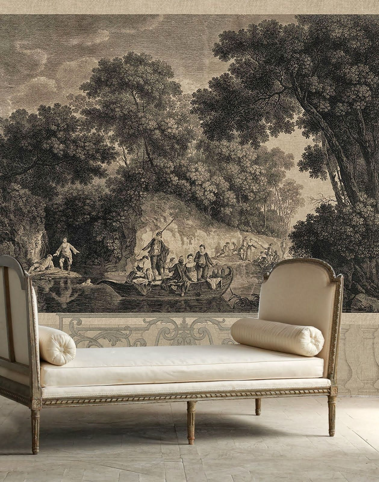Best 25 grisaille ideas on pinterest acanthus baroque - Grisaille wallpaper ...
