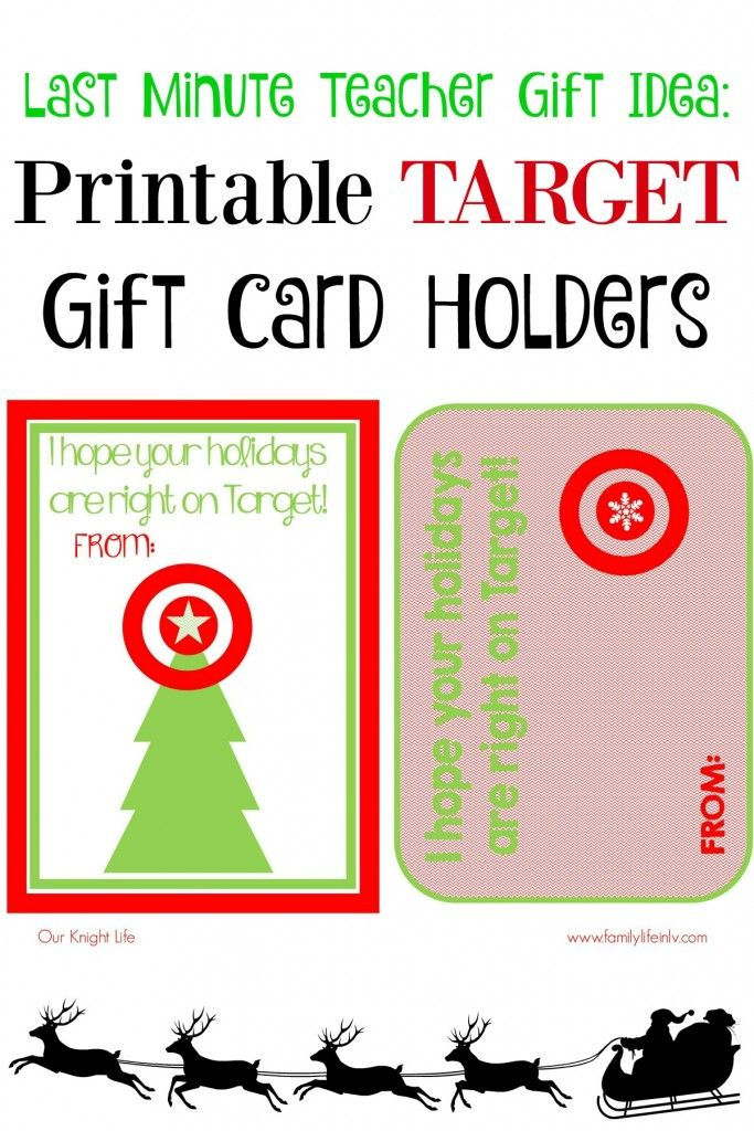 Easy and fun #FreePrintable! Printable Target Gift Card Holders - printable christmas gift certificate