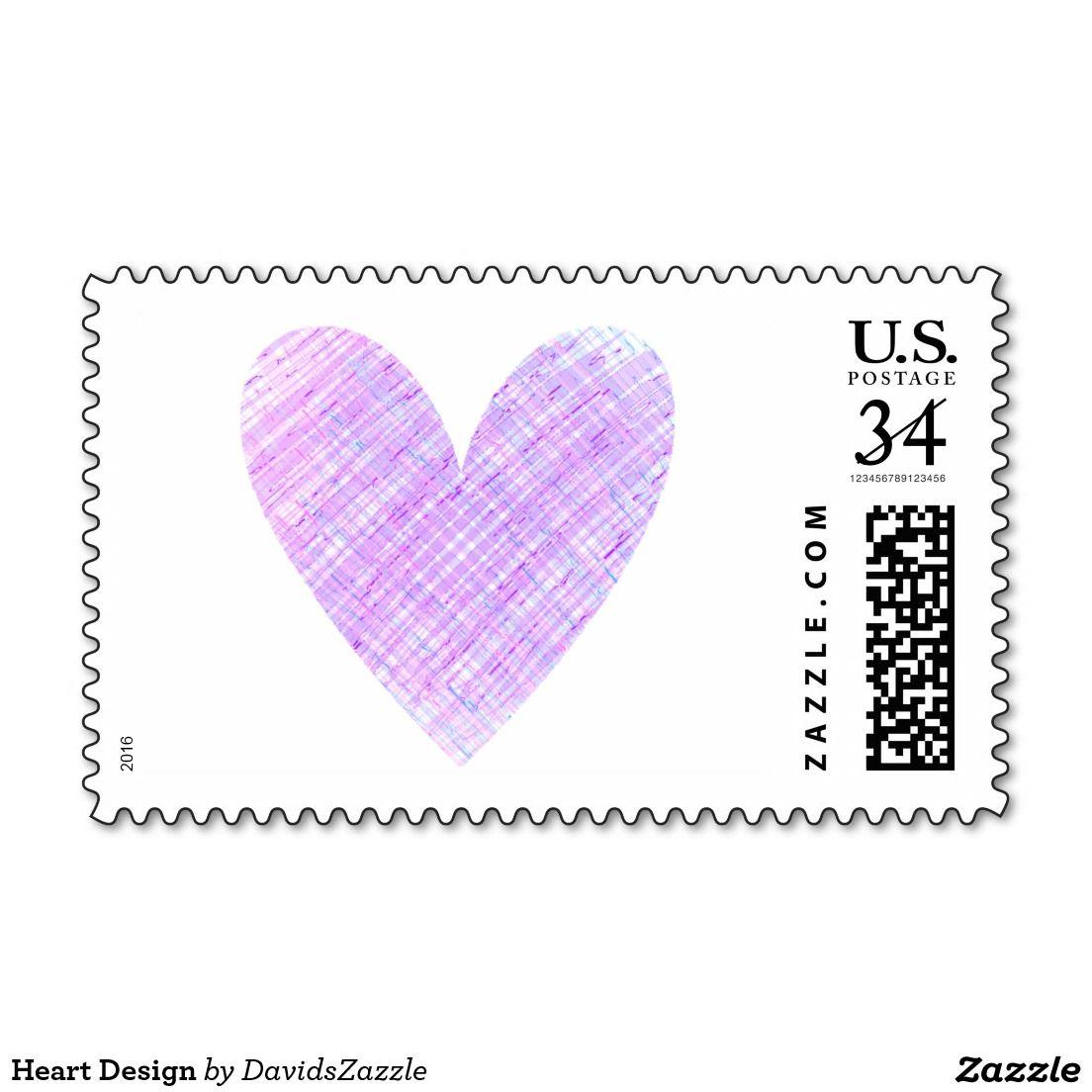 Heart Design Postage Stamp Heart Design Design Stamps Self Inking Stamps